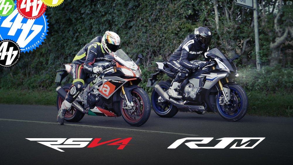 Video: Aprilia RSV4 RF v Yamaha R1M – Road Test
