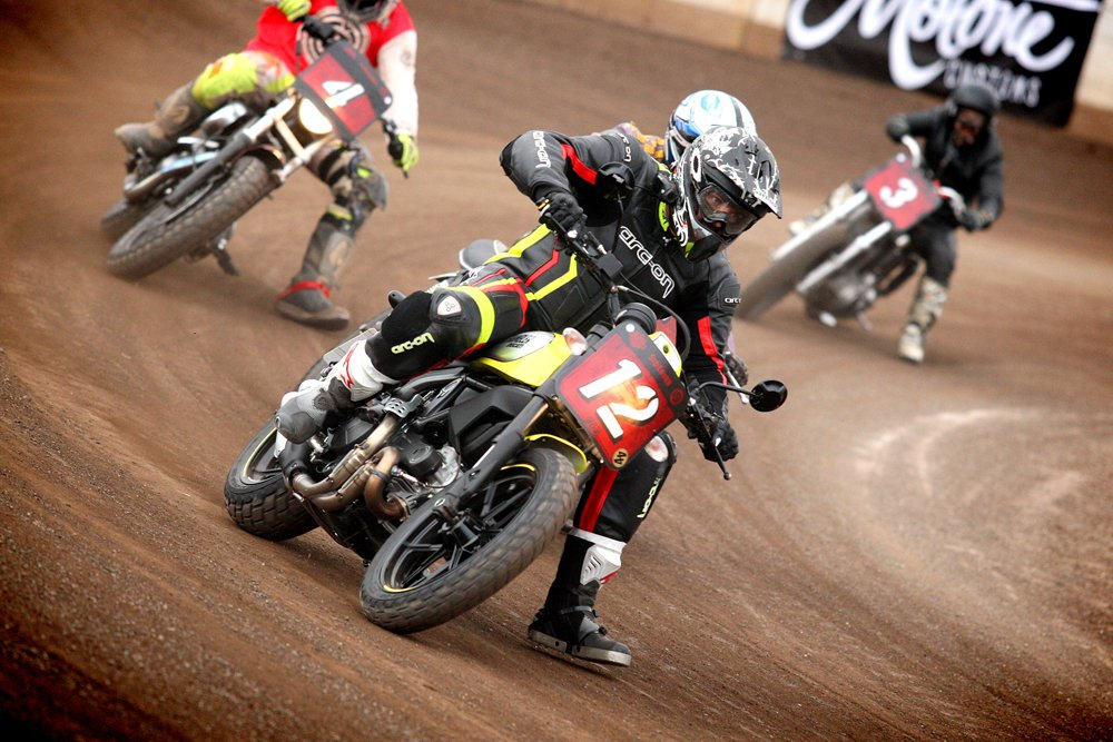 Flat Tracking a Ducati Scrambler