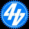 Blue 44Teeth logo sticker