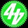 Green 44Teeth logo sticker