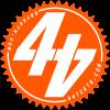 Orange 44Teeth logo sticker