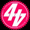 Pink 44Teeth logo sticker