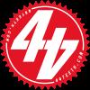 Red 44Teeth logo sticker