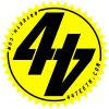 Yellow 44Teeth logo sticker