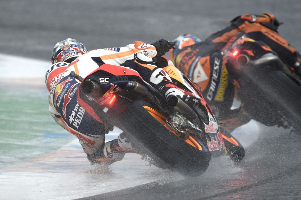 Riding in the wet at GP level