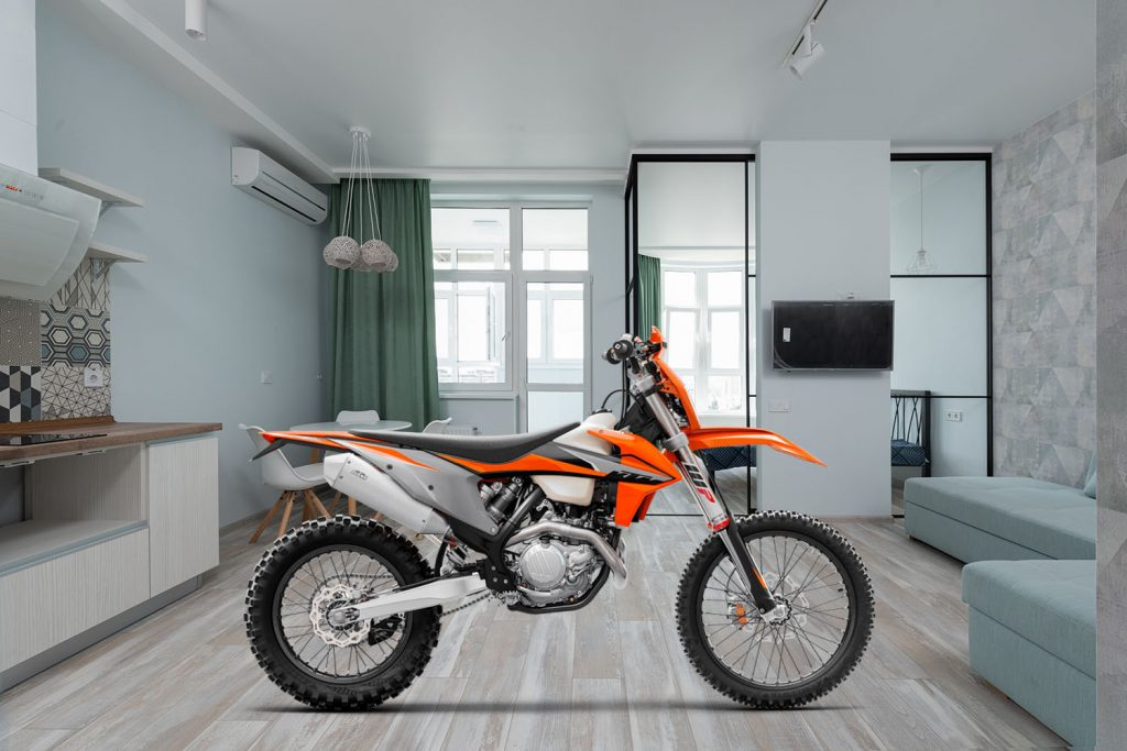 keep your bike in the living room
