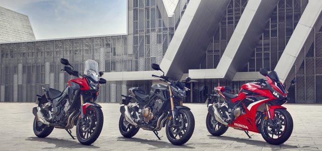 Honda CB500F, CBR500R and CB500X Updated